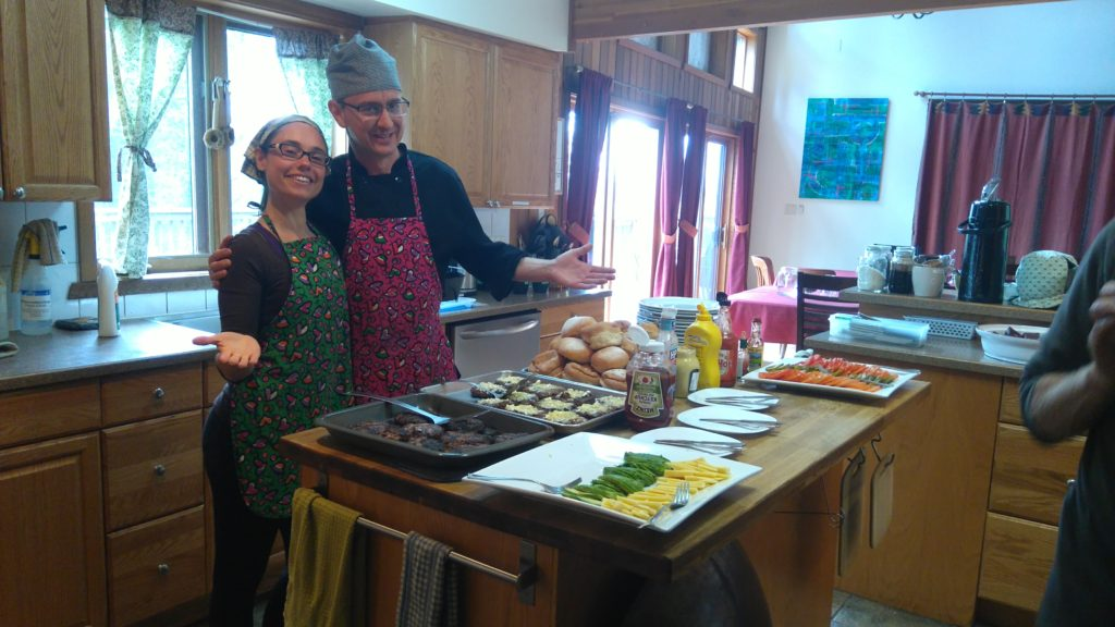 Stephen and Luciana in Kitchen